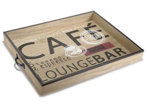vassoio legno lounge bar