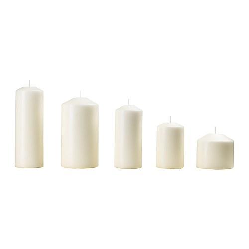 5 Ceri senza profumo, candele naturali