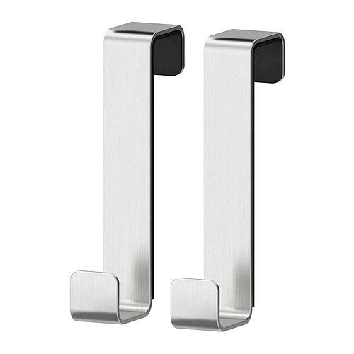 Attaccapanni per porta in acciaio inox LILLÅNGEN 2 pezzi