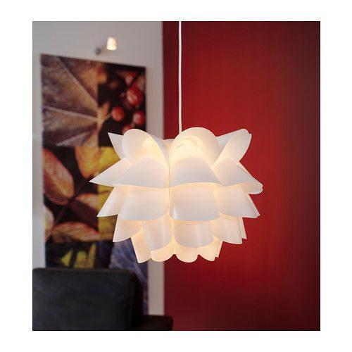 Lampadario KNAPPA, lampada da soffitto bianca