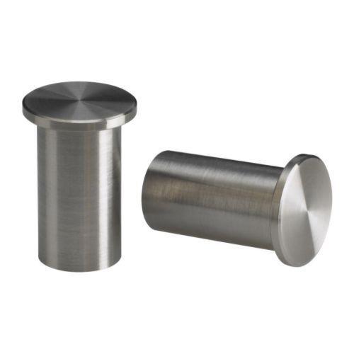 Pomelli appenditutto in acciaio inox grundtal 2 pezzi - Pomelli cucina acciaio ...