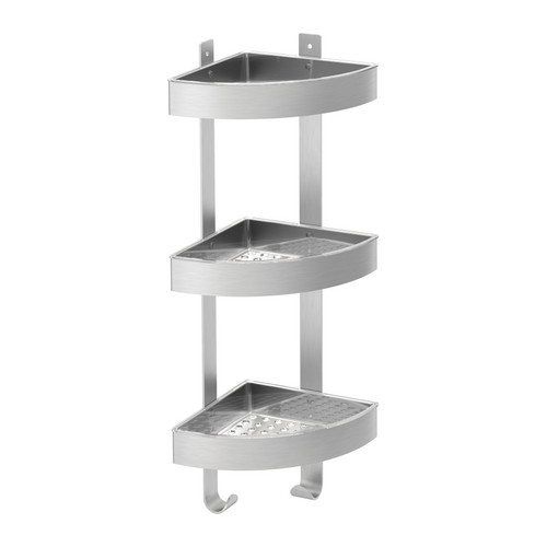 Scaffale angolare da bagno in acciaio inox