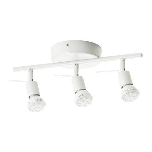 Binario da soffitto TROSS, lampadario 3 faretti bianco