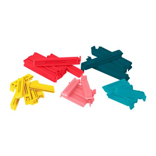 Clip per chiudere sacchetti BEVARA, 30 pezzi vari colori e misure