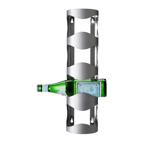 Portabottiglie VURM, 4 scomparti acciaio inox
