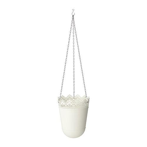 Portavasi pensile SKURAR bianco, 12 cm
